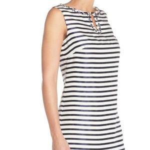 Ellen Tracy Dresses - Ellen Tracy Striped Shantung Sheath Dress